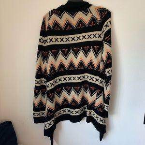 Full Tilt Sweaters - Full Tilt Aztec Pattern Sweater/Cardigan